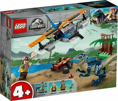 LEGO Jurassic World 75942 - Velociraptor: Biplane Rescue Mission