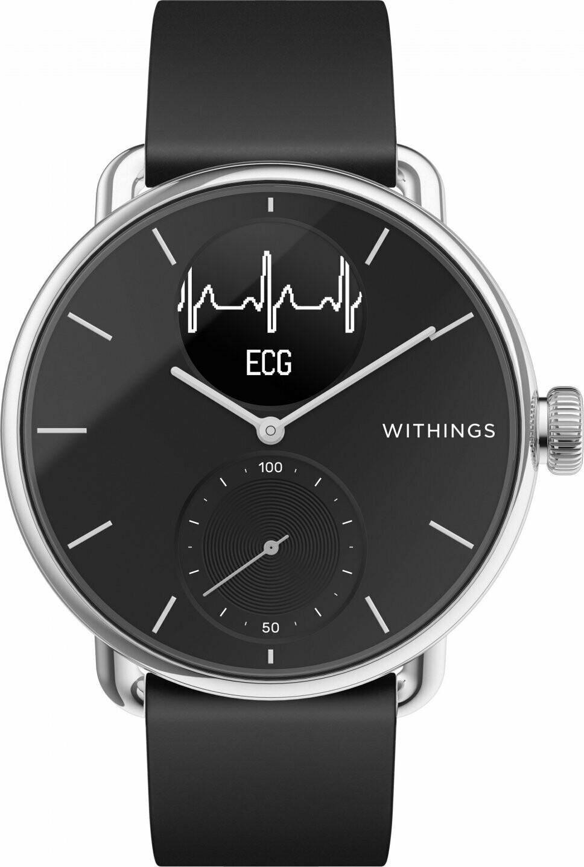 Withings Scanwatch EKG, aktiivsusekell, must