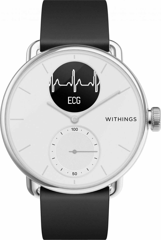 Withings Scanwatch EKG, aktiivsusekell, valge