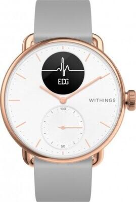 Withings Scanwatch EKG, aktiivsusekell, roosa kuld, 38 cm, 550075
