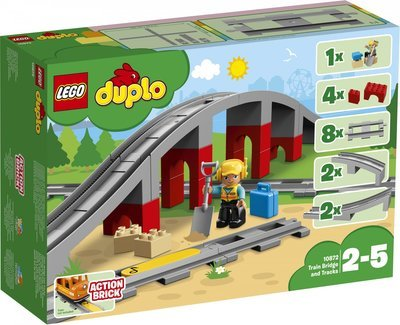 LEGO DUPLO Town 10872 Train Rails and Bridge