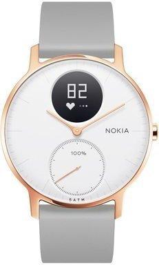 Nokia by Withings Steel HR, 36 mm, kuldne/ valge, 550043