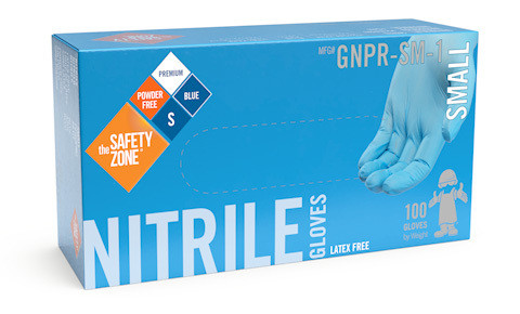 Nitrile Gloves Powder Free Blue Large 100/bx