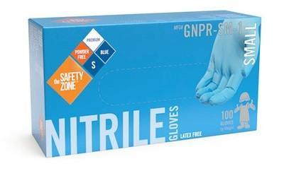 Powder Free Blue Nitrile Gloves MD 100/bx