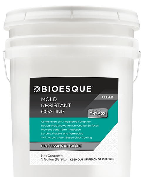BIOESQUE MOLD RESISTANT COATING CLEAR 5 GALLON
