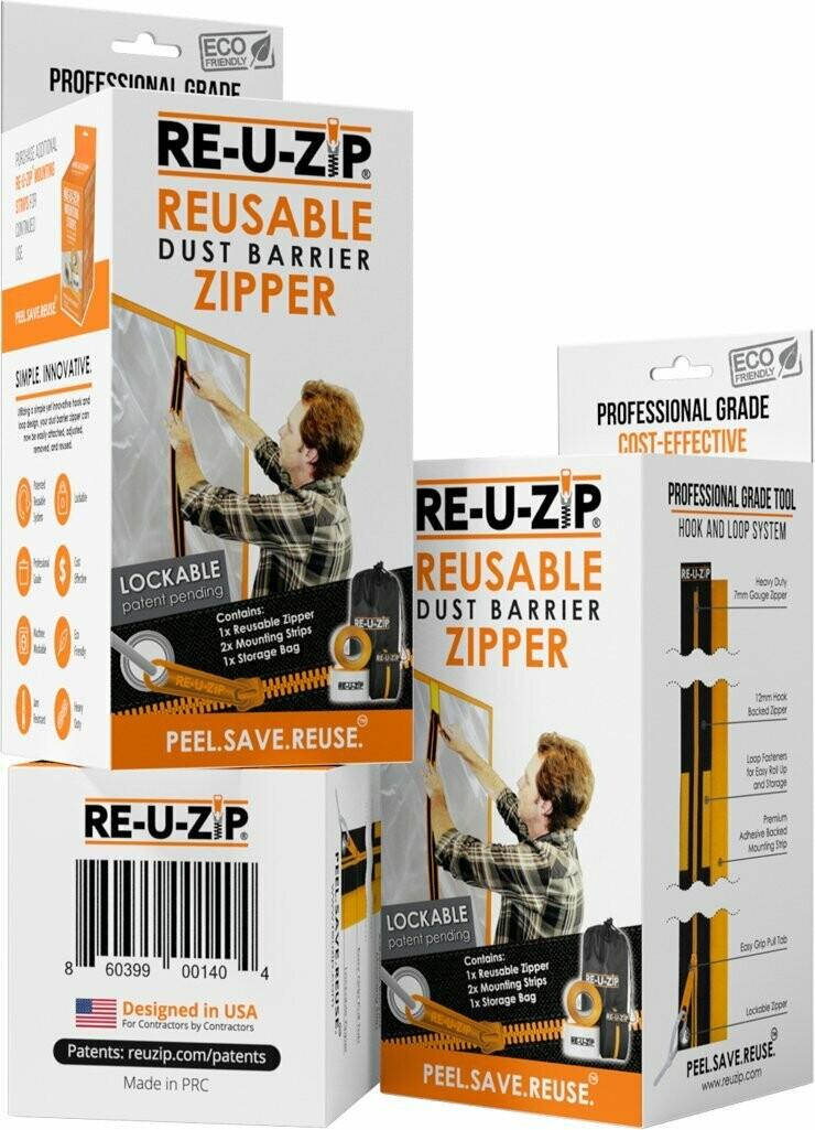 Reusable Dust Barrier Zipper- Starter Kit