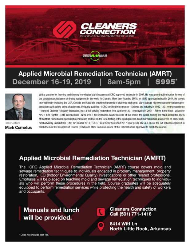 Applied Microbial Remediation Technician (AMRT) Course 12/16/19 to 12/19/19 SOLD OUT