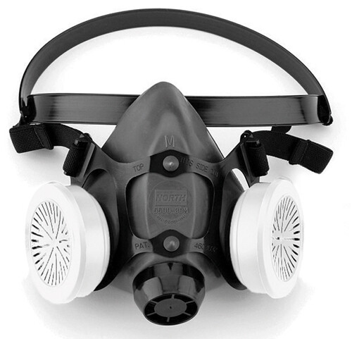 5500 Half Mask Respirator, Respirator Connection Type: Threaded, Mask Size: L