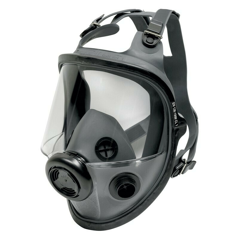 Honeywell North Low Maintenance Full Face Respirator, 5400 Series, Mask Size M/L