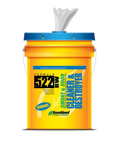 Sentinel Formula 522 Smoke & Odor Cleaning Wipes