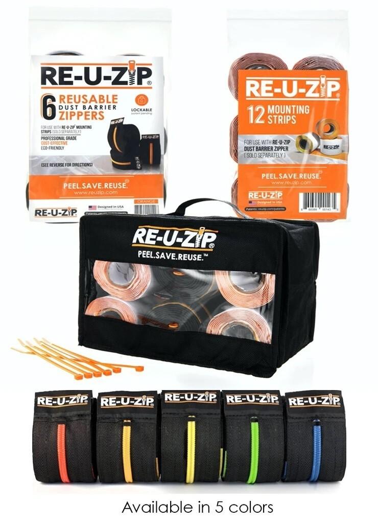 Zipper Pro Bundle   6 Zippers + 12 Mounting Strips + Carry Case