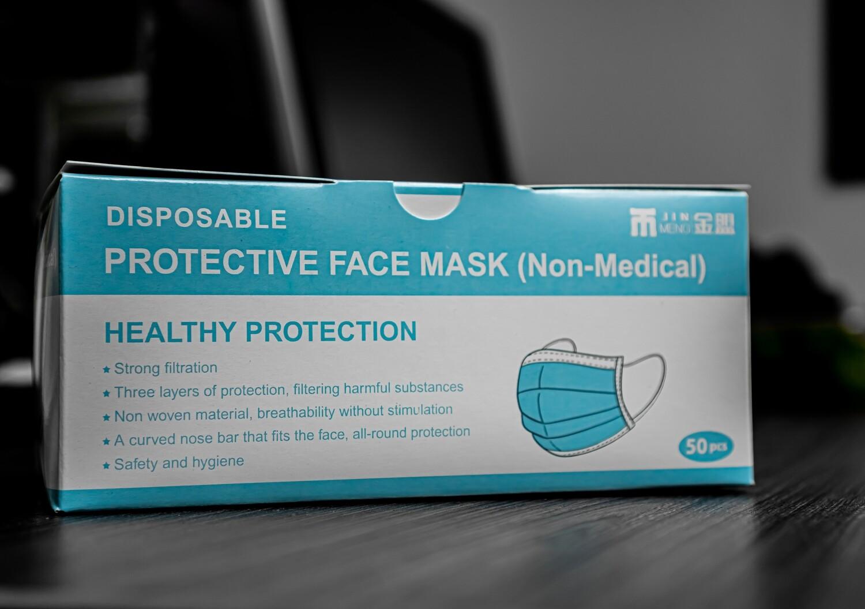 Protective Face Mask (Non-Medical) box of 50