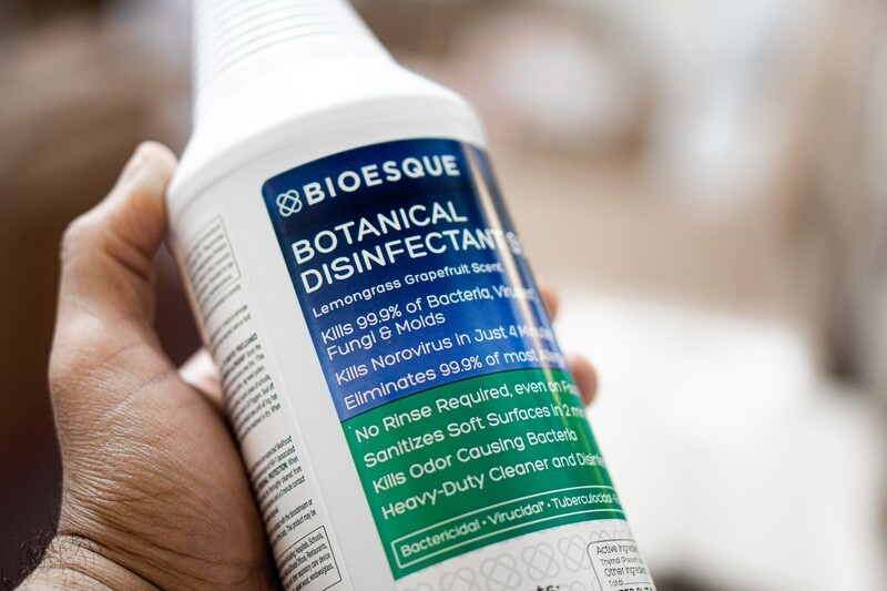 BOTANICAL DISINFECTANT SOLUTION by BIOESQUE  (1 quart) EPA approved for killing covid in 55 seconds