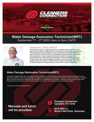 SOLD OUT - Water Restoration Technician Coarse (IICRC)