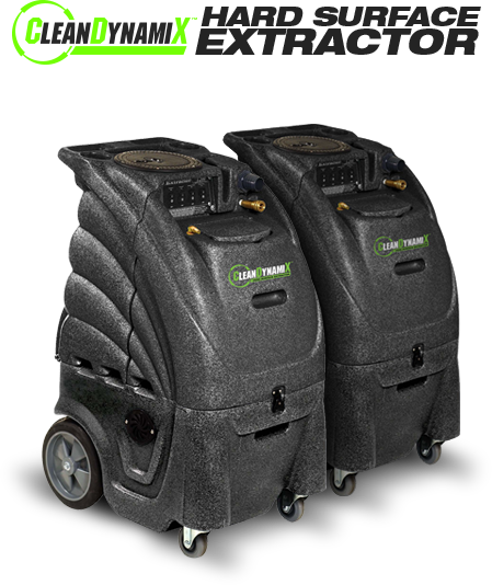 Clean DynamiX 12-Gallon Hard Surface Extractor, 1200 psi pump, (1) 3-Stage Motor and (1) 2-Stage Motor. Auto-fill and Auto-Dump