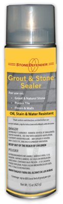 Stone Defender Aerosol Grout Sealer, Can
