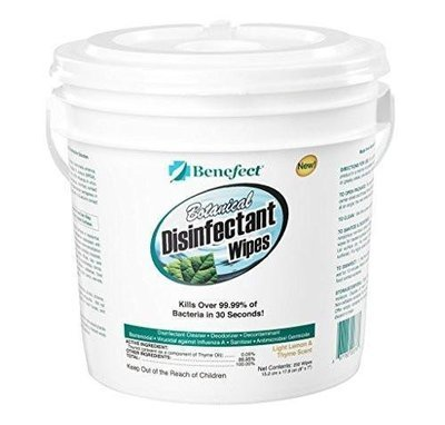 Benefect Botanical Disinfectant Wipes 250 count