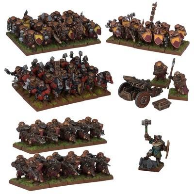 Dwarf Army - Dwarfs Zwerge - Kings of War - Mantic Games