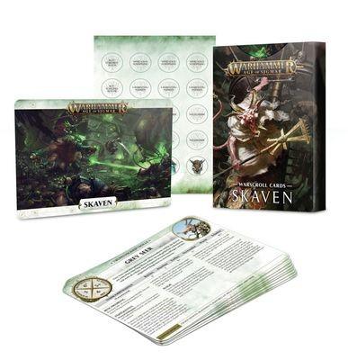 Schriftrollenkarten der Skaven Warscroll - Warhammer Age of Sigmar- Games Workshop