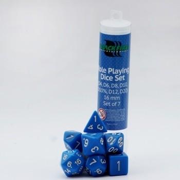 16mm Role Playing Dice Set - Blue (7 Dice) - Rollenspielwürfel
