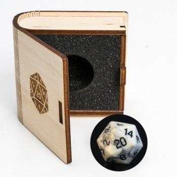 Gemstone Collectors Dice - Howlite - D20 W20