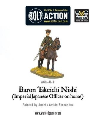 Baron Nishi (Imperial Japanese officer on horse) - Bolt Action - Warlord Games