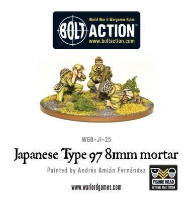 Japanese 81mm mortar - Bolt Action - Warlord Games