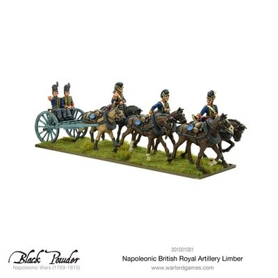 Napoleonic British Royal Artillery limber - Black Powder - Warlord Games