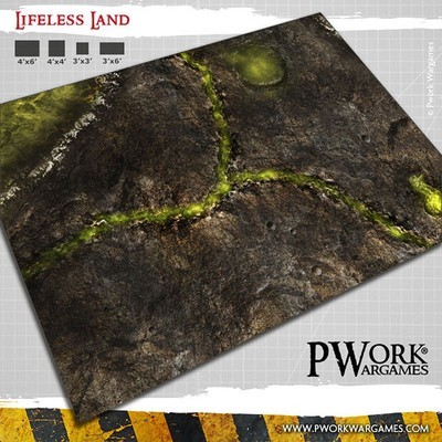 Lifeless Land - Wargames Terrain Mat PVC Vinyl - 22x33