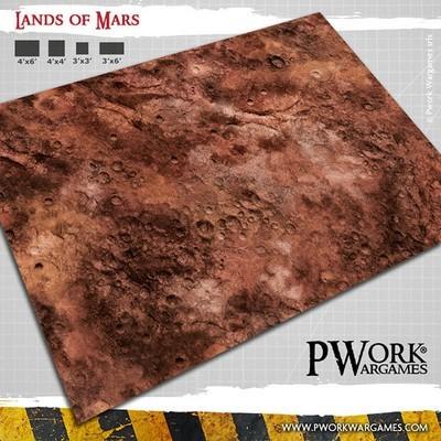 Lands of Mars - Wargames Terrain Mat PVC Vinyl - 3x6 - PWork Wargames