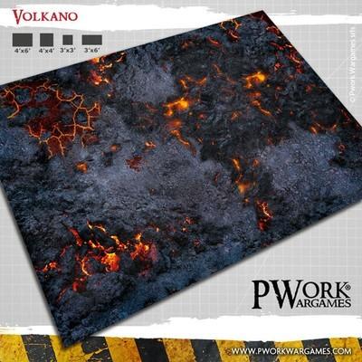 Volkano - Wargames Terrain Mat PVC Vinyl - 3x6 - PWork Wargames