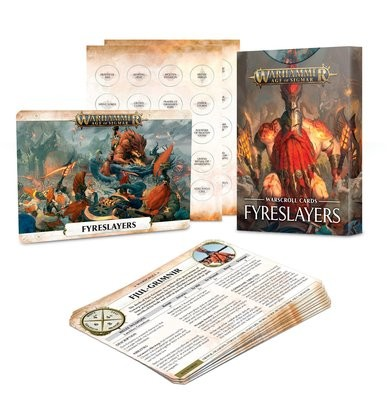 Warscroll Cards: Schriftrollenkarten der Fyreslayers Deutsch - Warhammer Age of Sigmar - Games Workshop