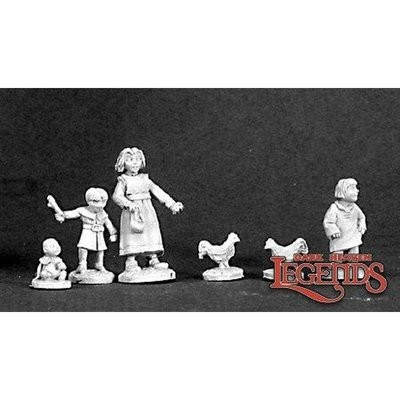 Townsfolk: Children - Dark Heaven Legends - Reaper Miniatures