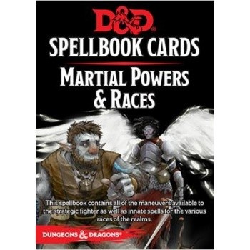 D&D Dungeons&Dragons Spellbook Cards - Martial Powers & Races (61 Cards) - EN