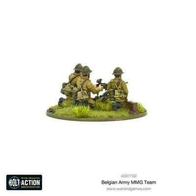Belgian Army MMG team - Belgian - Bolt Action - Warlord Games