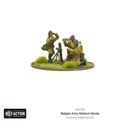 Belgian Army medium mortar - Belgian - Bolt Action - Warlord Games