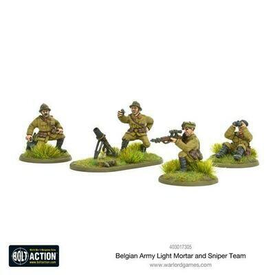 Belgian Army light mortar & sniper teams - Belgian - Bolt Action - Warlord Games