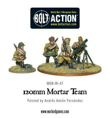Soviet Army 120mm heavy mortar team - Bolt Action - Warlord Games