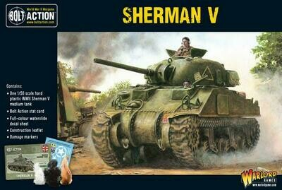 Sherman V Plastic Tank - British - Bolt Action - Warlord Games