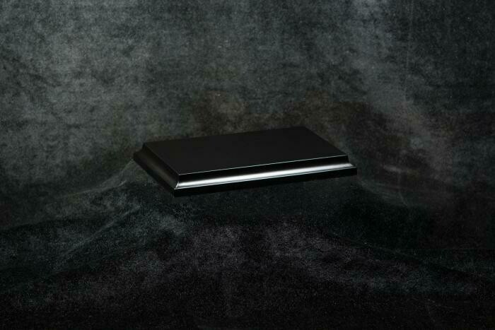 Wooden Base Black, 135x76x15mm - Sockel - Andrea
