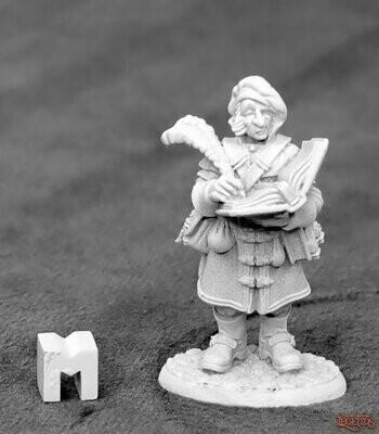 Townsfolk: Money Lender Scribe - Dark Heaven Legends - Reaper Miniatures