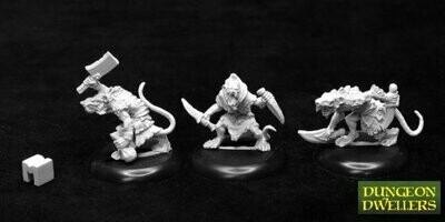 Dungeon Dwellers: Wererats (3) - Dark Heaven Legends - Reaper Miniatures