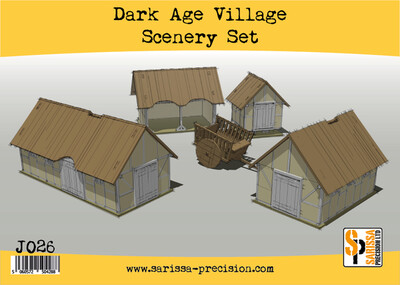 Dark Age Village Scenery Set - Sarissa