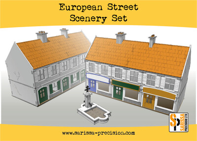European Street Scenery Set - Sarissa