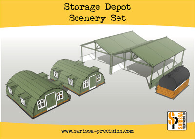 Storage Shelter Scenery Set - Sarissa