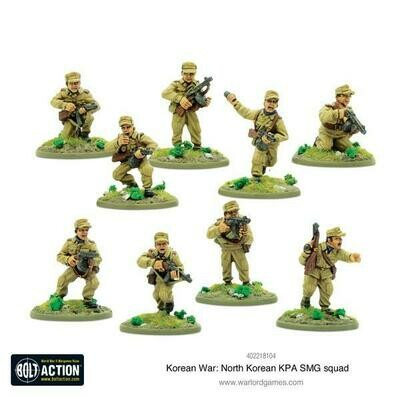 Korean War: North Korean KPA SMG squad - Korean - Bolt Action