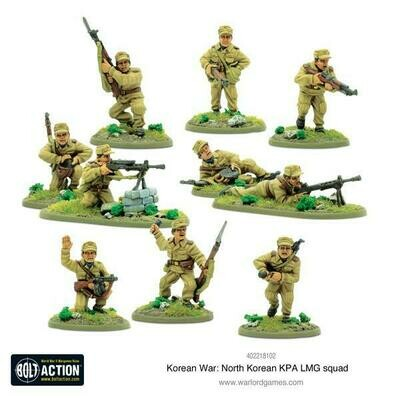 Korean War: North Korean KPA LMG squad - Korean - Bolt Action