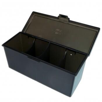 4-Compartment Storage Box - Black - Blackf