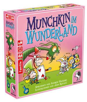 Munchkin: im Wunderland - Kartenspiel - Pegasus Spiele