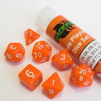 16mm Role Playing Dice Set - Orange (7 Dice) - Rollenspielwürfel
